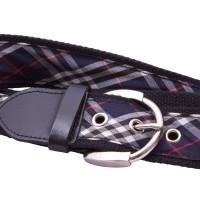 Black webbing belt with ribbon