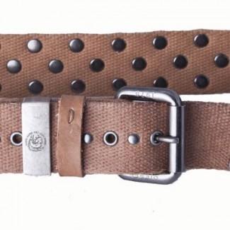 Studded Rust Cotton Webbing Belt