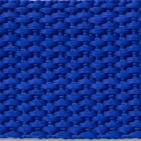 Royal blue polypropylene webbing