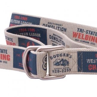 Tan webbing d ring belt