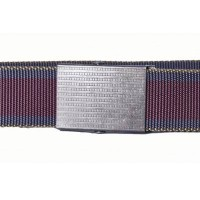 Maroon nylon webbing belt
