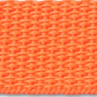 Orange polypropylene webbing