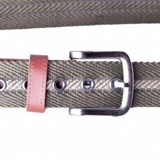 olive drab and sage twill spun webbing belt