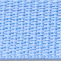 Sky blue polypropylene webbing
